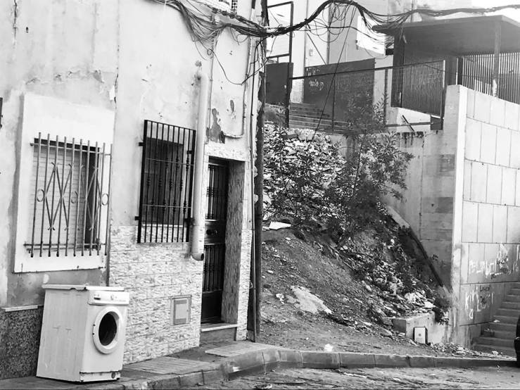 La Chanca street washing machine